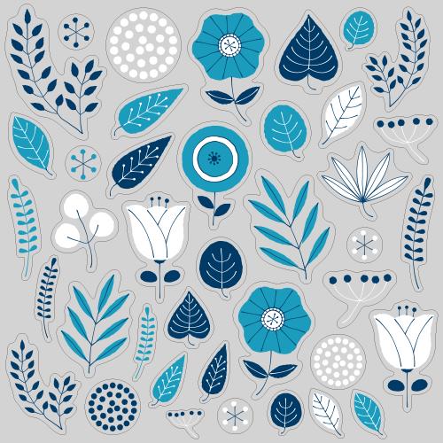 【VP】北欧風 植物《ブルー》の写真