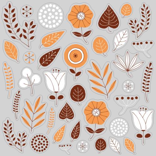 【VP】北欧風 植物《オレンジ》の写真