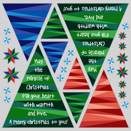 【VP】クリスマスツリーメッセージの写真