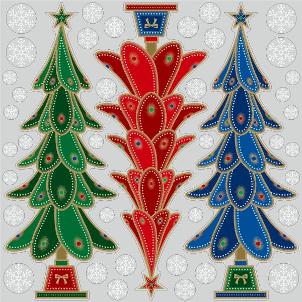 【VP】3色のクリスマスツリーの写真