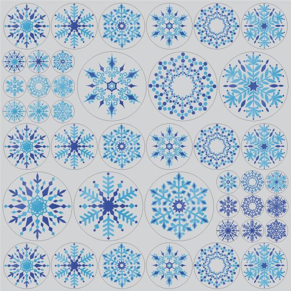【VP】水彩雪の結晶の写真