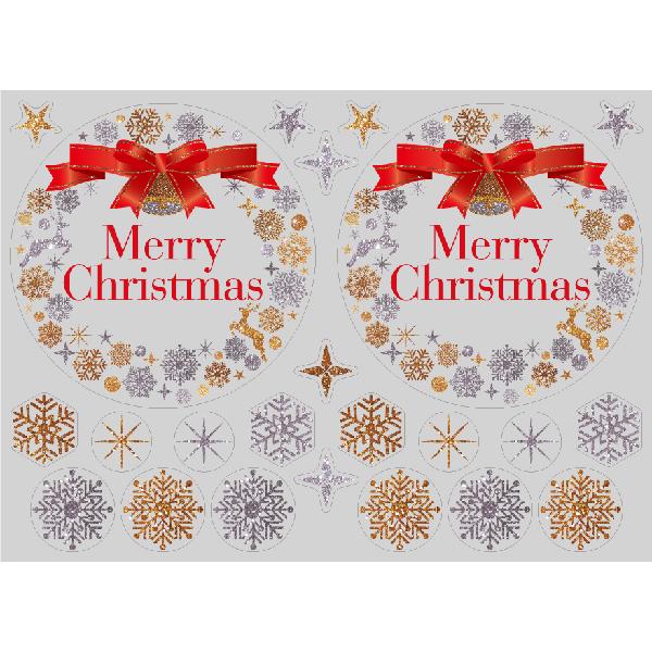 【PP】キラキラクリスマス リース ミニの写真