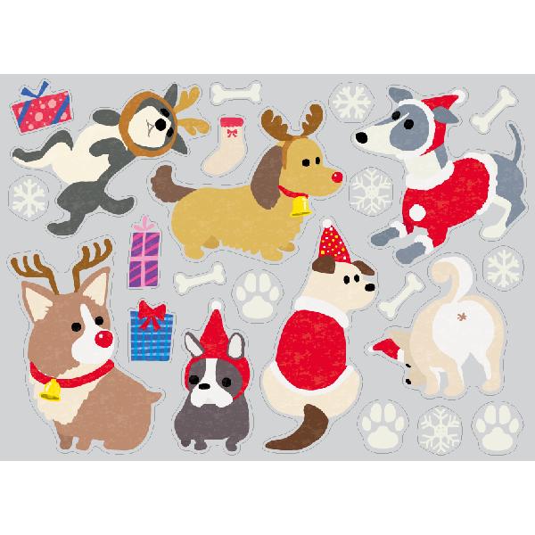 【PP】Christmas dogs ミニの写真