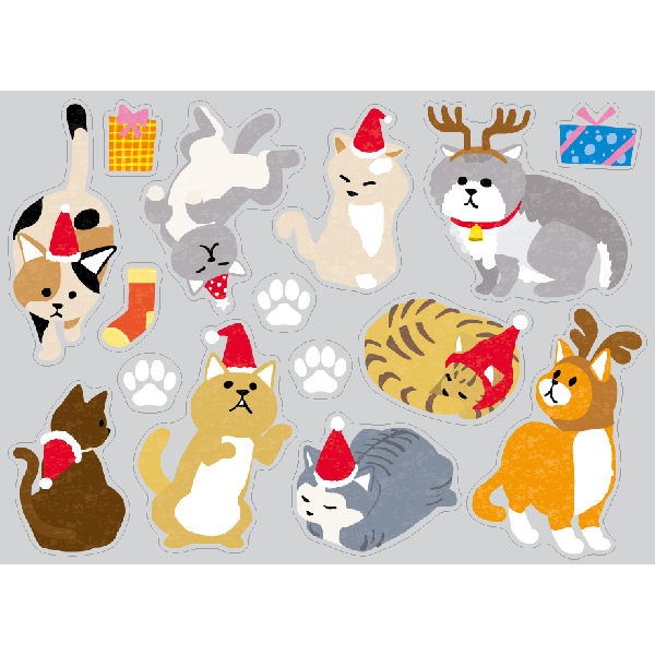 【PP】Christmas cats ミニの写真