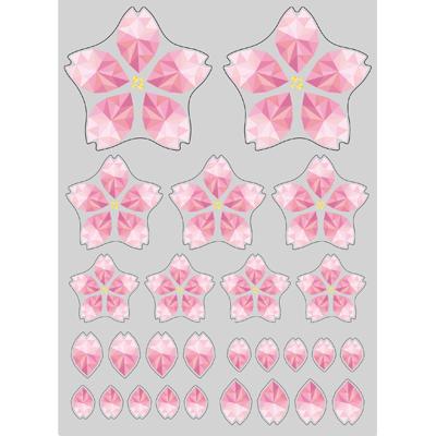 ポリゴン桜 シール