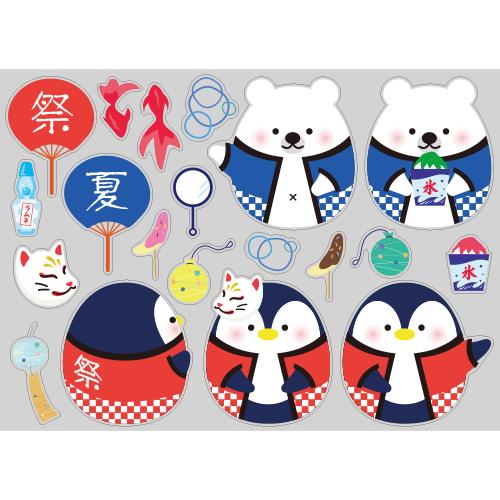 【PP】しろくま&ペンギンたまごの夏祭りの写真