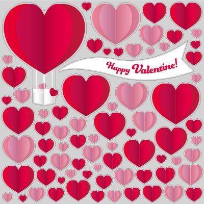 【VP】クラフト調ハートのバレンタインの写真