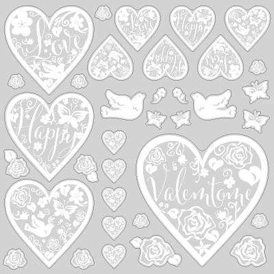 【VP】切り絵ハートのバレンタインの写真