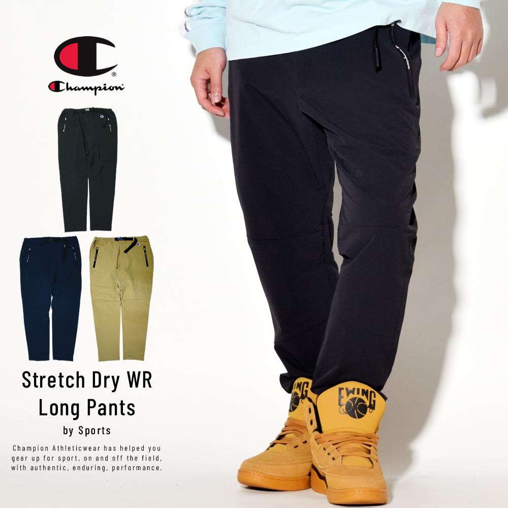 Champion (チャンピオン) ナイロンパンツ 撥水 ストレッチ SPORTS Stretch Dry WR LONG PANTS (C3-RSD11)
