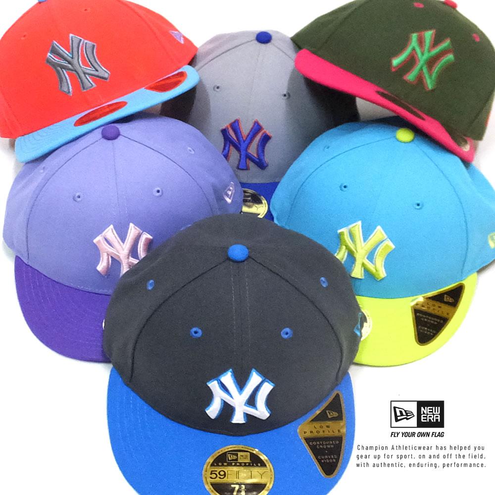 ニューエラ NEW ERA キャップ メンズ 帽子 LP 59FIFTY MLBカスタム ニューヨーク・ヤンキース カラフル&ビビッド 2020SS