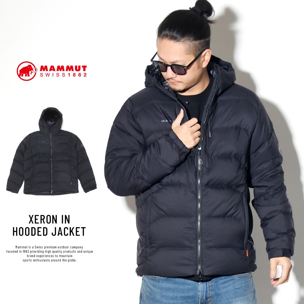 マムート MAMMUT ダウンジャケット メンズ 750FP 軽量 防風 エクセロン イン フーデッドジャケット 1013-00702