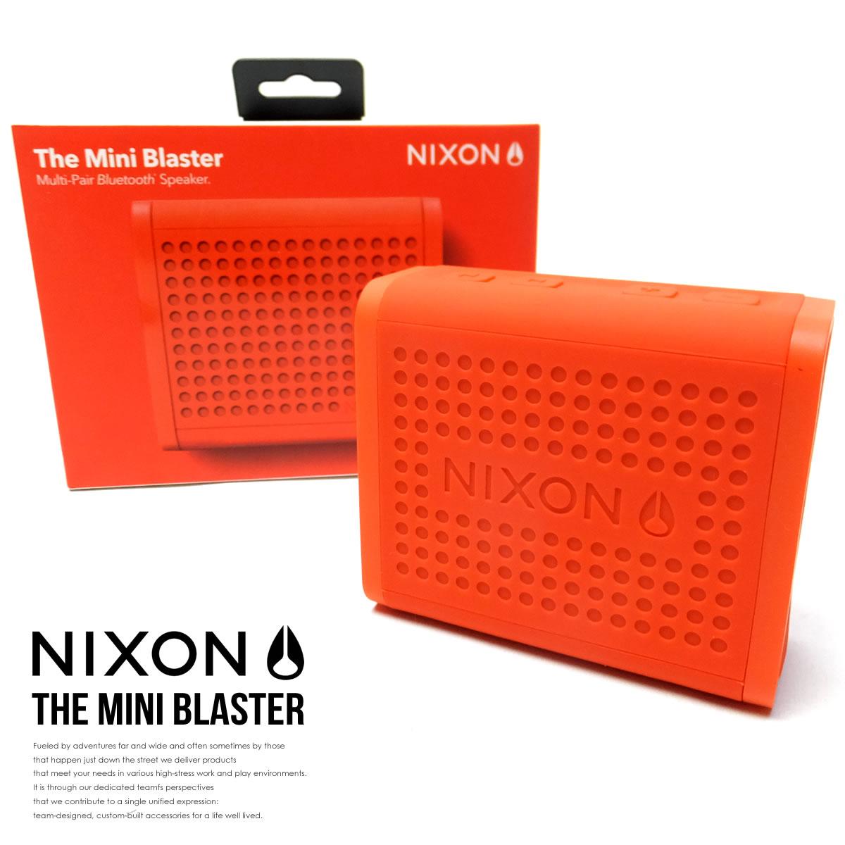 NIXON スピーカー THE MINI BLASTER RED-PEPPER NH012383 6V9124
