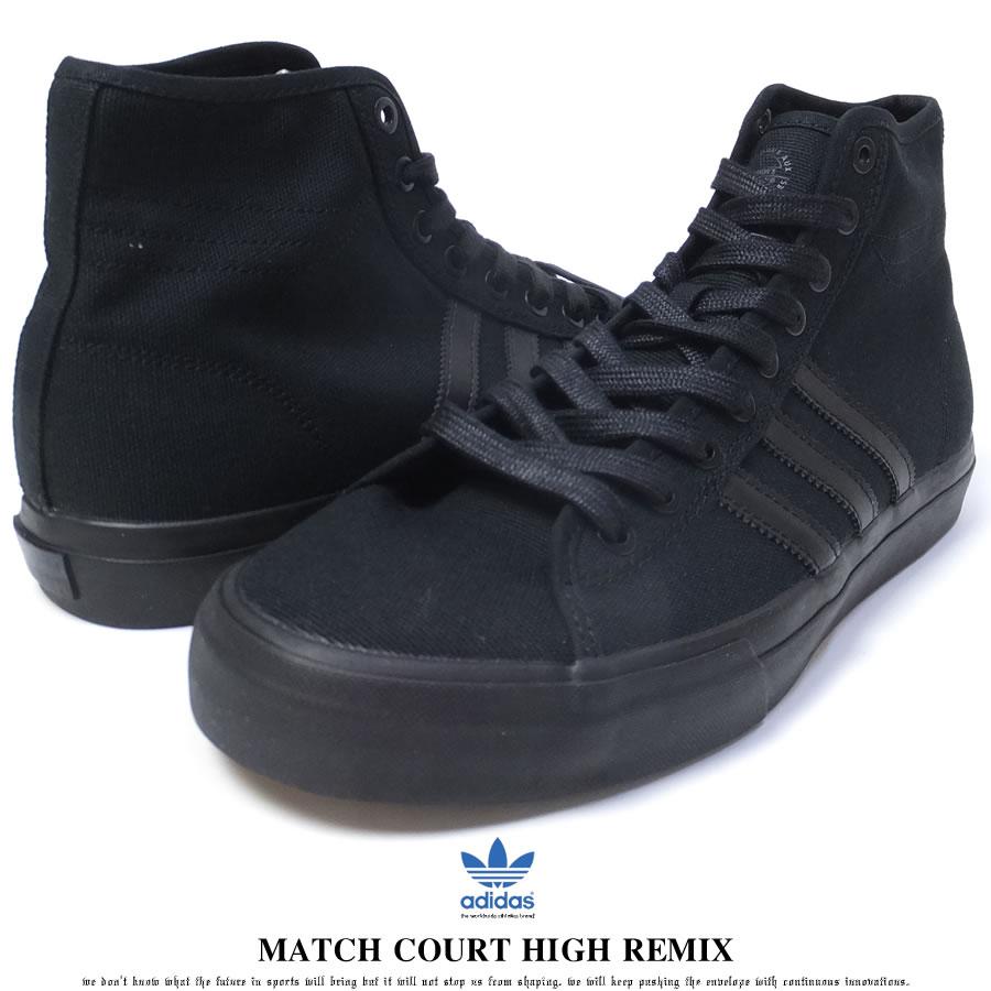 adidas Originals アディダス オリジナルス スニーカー メンズ MATCH COURT HIGH REMIX マッチコート ハイ リミックス CBLACK/CBLACK/CBLACK (BY4246)