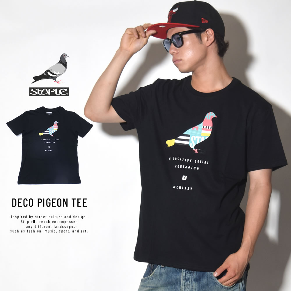 STAPLE ステイプル 半袖Tシャツ DECO PIGEON TEE (1804C4793)