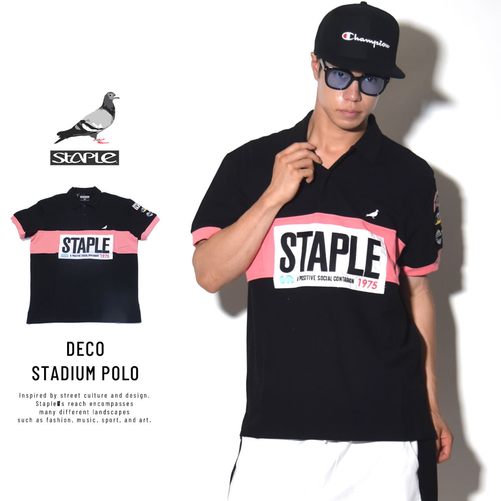 STAPLE ステイプル ポロシャツ DECO STADIUM POLO (1804P4761)