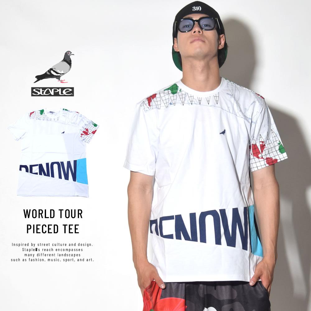 STAPLE ステイプル 半袖Tシャツ WORLD TOUR PIECED TEE (1805C4731)