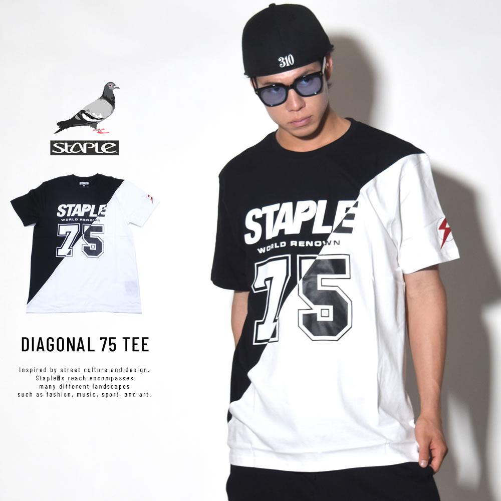 STAPLE ステイプル 半袖Tシャツ DIAGONAL 75 TEE (1805C4841)