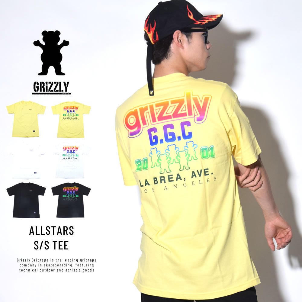 GRIZZLY グリズリー 半袖Tシャツ ALLSTARS S/S TEE (GMB1801P22)