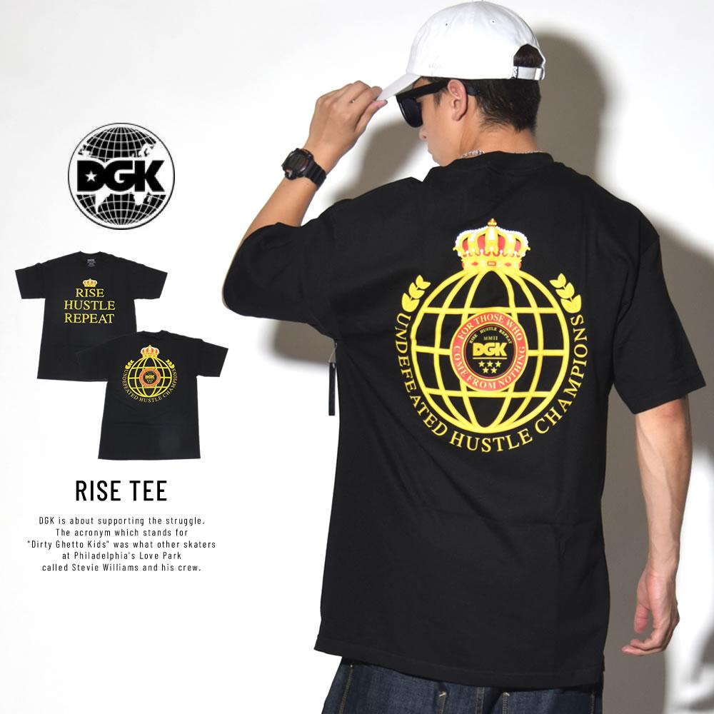 DGK ディージーケー 半袖Tシャツ RISE TEE ブラック DT-4254