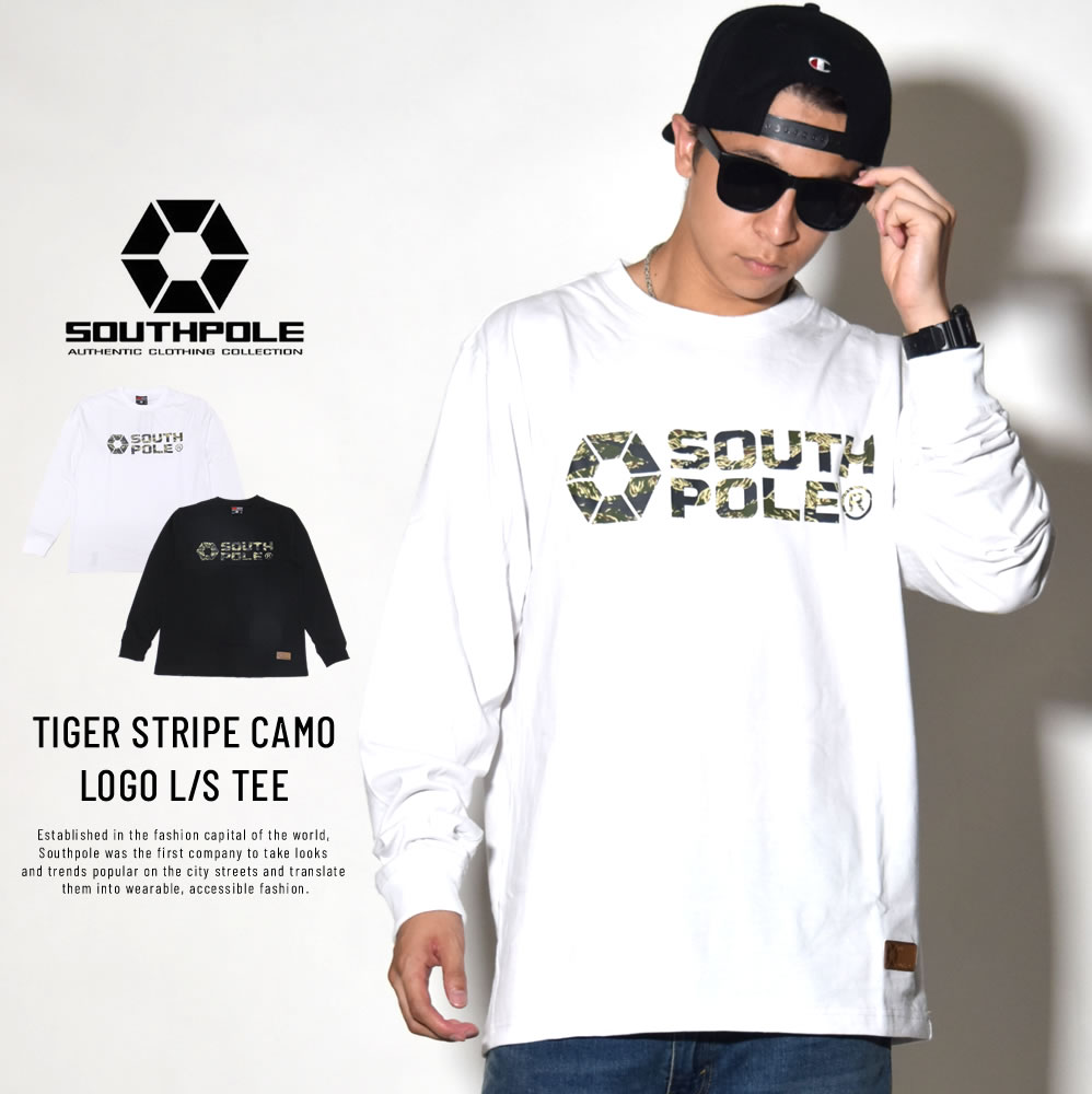 SOUTH POLE サウスポール 長袖Tシャツ TIGER STRIPE CAMO LOGO L/S TEE 11831003