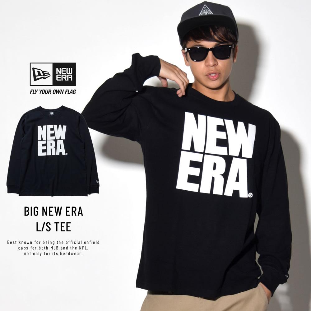 NEW ERA ニューエラ 長袖Tシャツ ビッグニューエラ ブラック×ホワイト 11783093