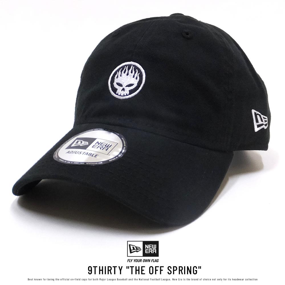 NEW ERA ニューエラ コラボ カーブバイザーキャップ 9THIRTY The Offspring オフスプリング ロゴ ブラック×ホワイト 11797109