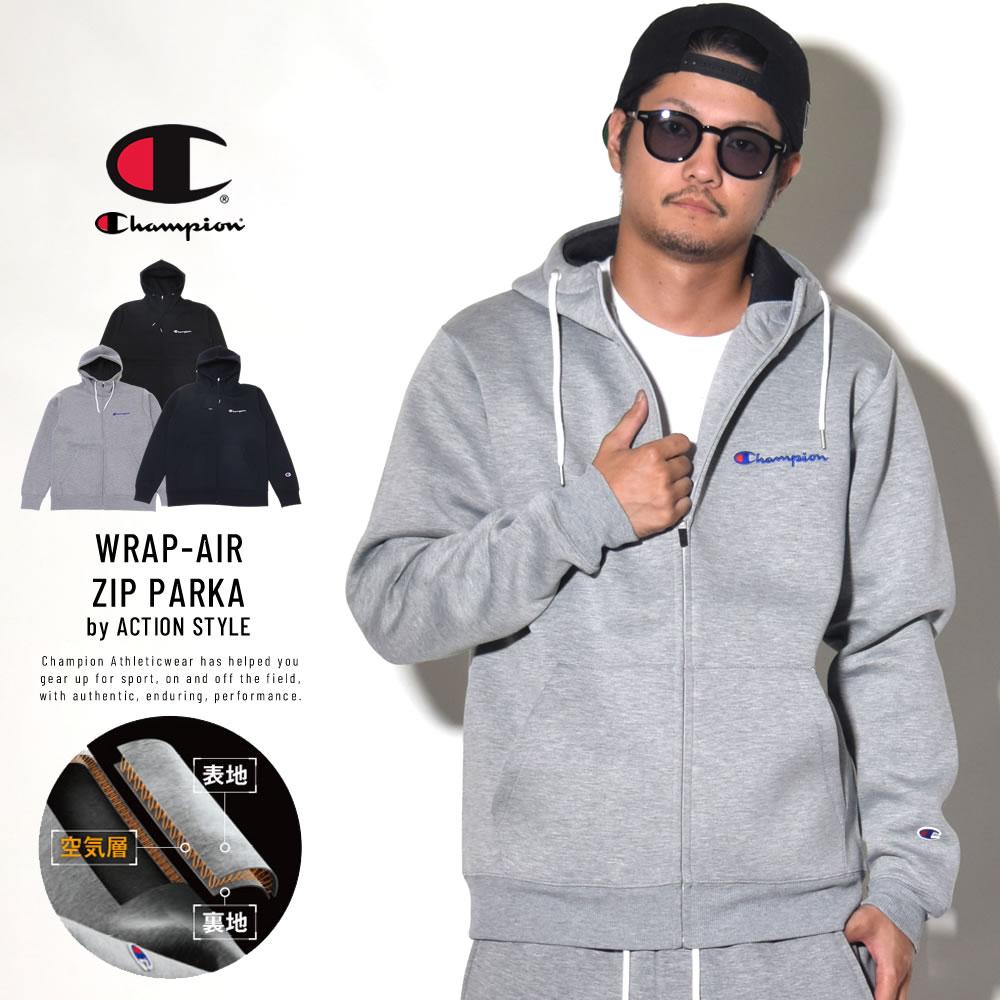 CHAMPION チャンピオン ジップパーカー ACTION STYLE WRAP-AIR ZIP PARKA C3-NS130