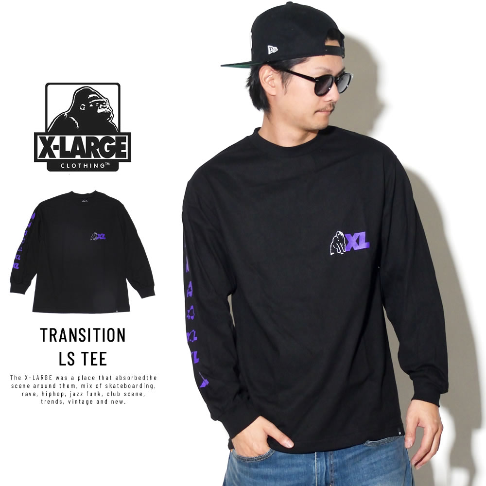X-LARGE エクストララージ 長袖Tシャツ TRANSITION LS TEE M18C1403