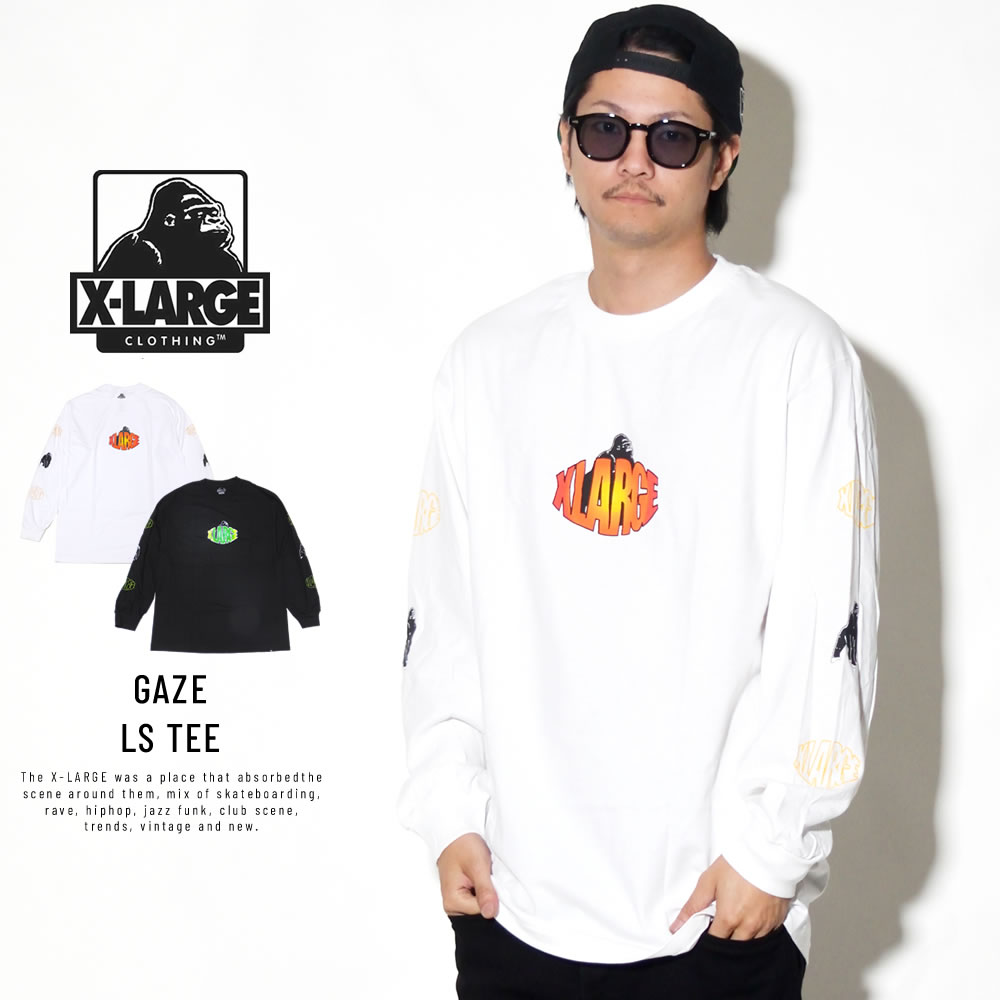 X-LARGE エクストララージ 長袖Tシャツ GAZE LS TEE M18C1405