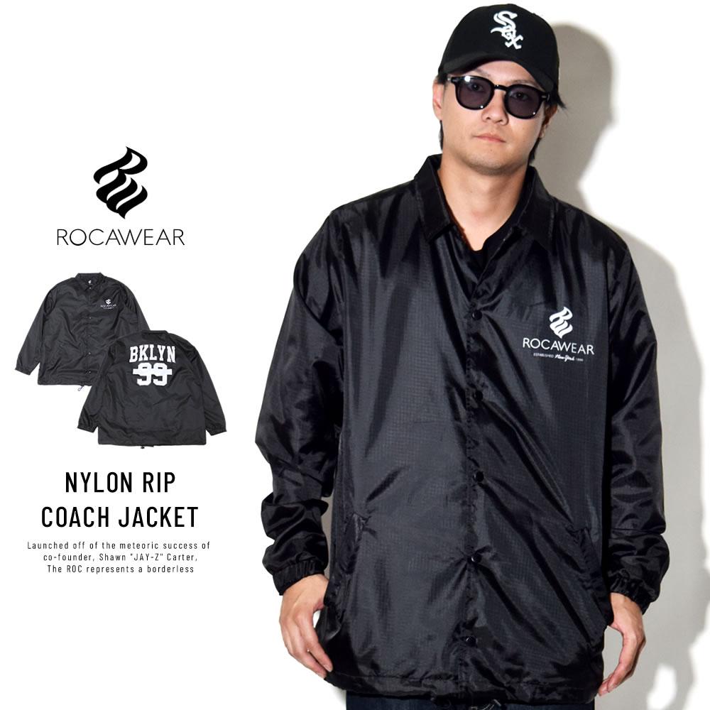 ROCAWEAR ロカウェア コーチジャケット NYLON RIP COACH JACKET RW183O01