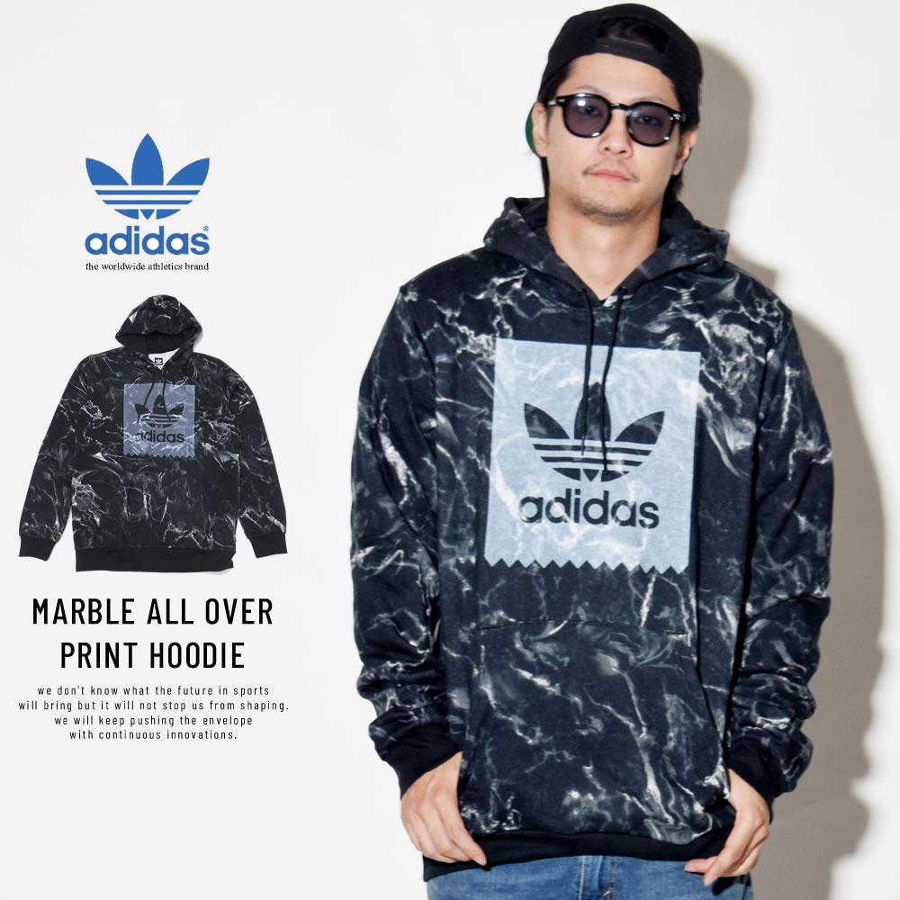 adidas Skateboarding アディダス スケートボーディング プルオーバーパーカー MARBLE ALL OVER PRINT HOODIE DH3922