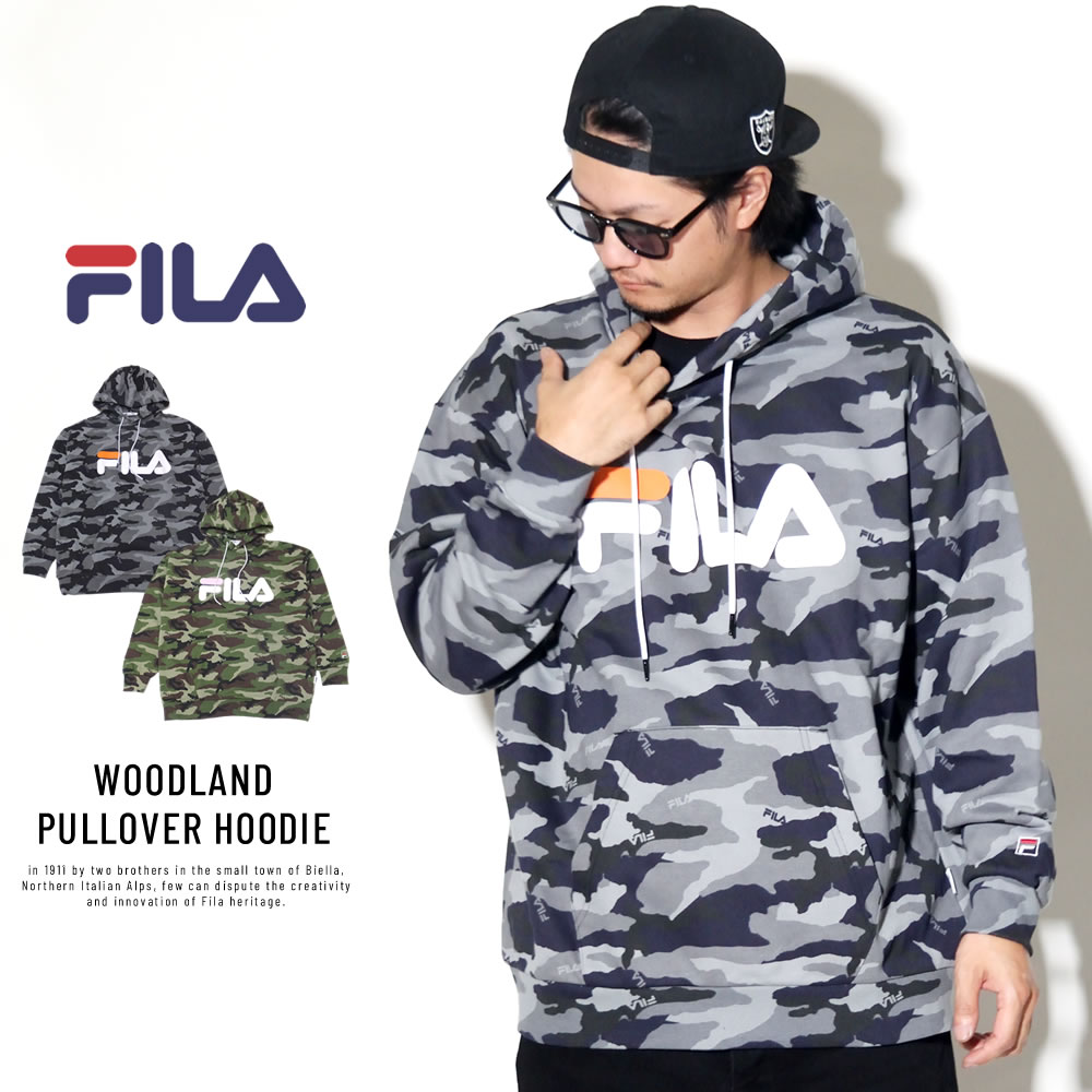 FILA フィラ プルオーバーパーカー WOODLAND PULLOVER HOODIE FM9511