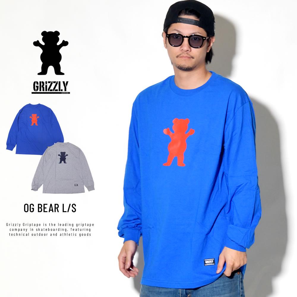 Grizzly Griptape グリズリーグリップテープ 長袖Tシャツ OG BEAR L/S TEE GMD1802P04