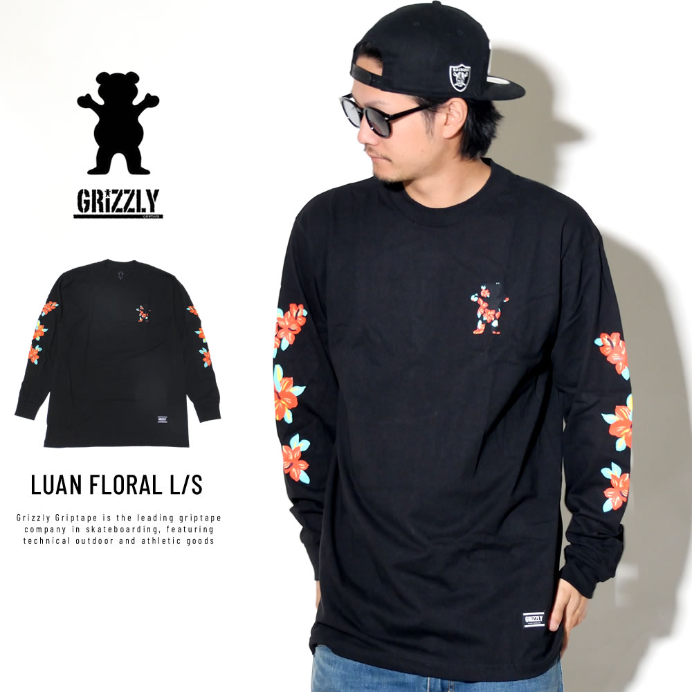 Grizzly Griptape グリズリーグリップテープ 長袖Tシャツ LUAN FLORAL L/S TEE SMD1802P01