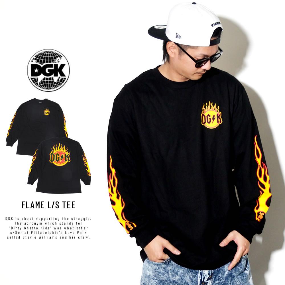 DGK ディージーケー 長袖Tシャツ FLAME L/S TEE PTL-1018