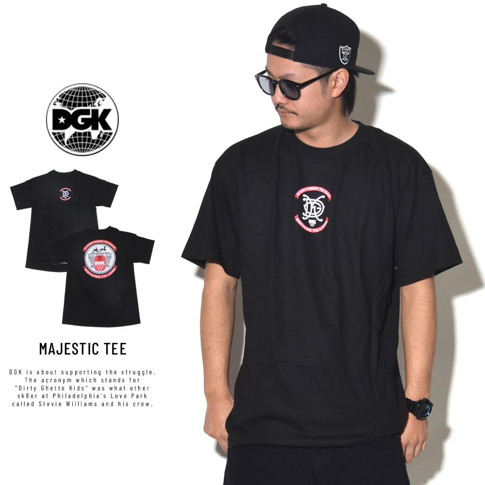 DGK ディージーケー 半袖Tシャツ MAJESTIC TEE BLACK PTM-1072