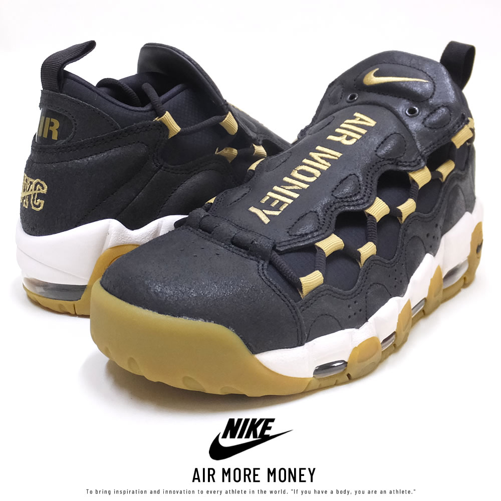 NIKE ナイキ スニーカー AIR MORE MONEY OIL-GREY/METALLIC-GOLD AR5401-001