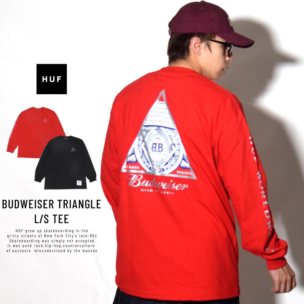 HUF ハフ 長袖Tシャツ BUDWEISER TRIANGLE L/S TEE TS00742