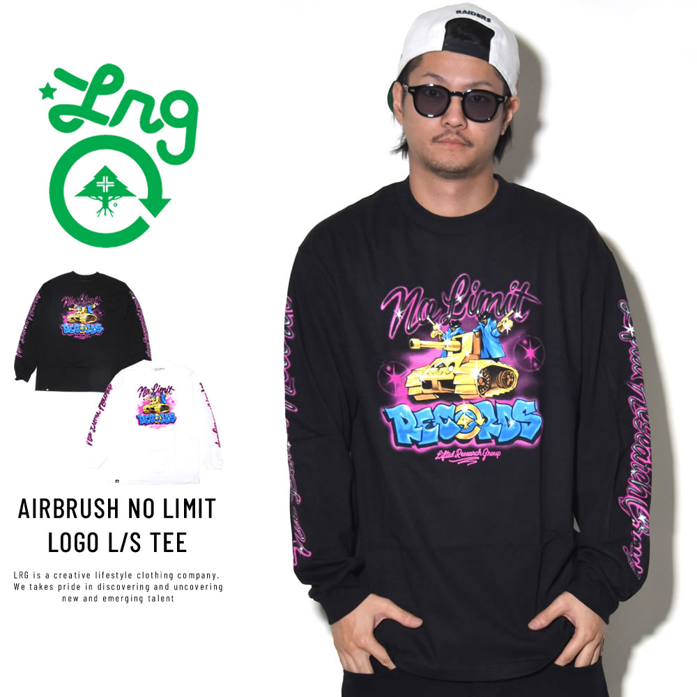 LRG エルアールジー 長袖Tシャツ AIRBRUSH NO LIMIT LOGO L/S TEE M181044S