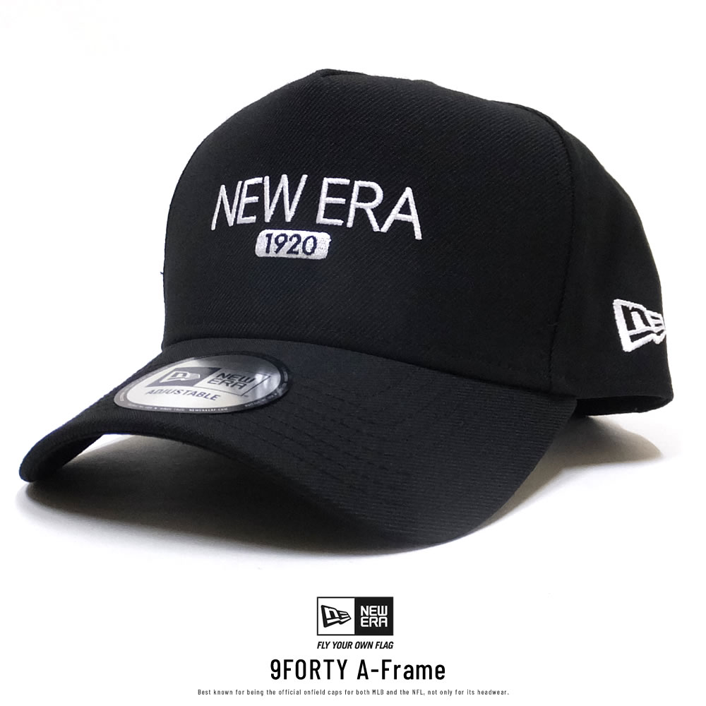 NEW ERA ニューエラ カーブバイザーキャップ 9FORTY A-Frame NEW ERA 1920 ブラック×ホワイト 11899234