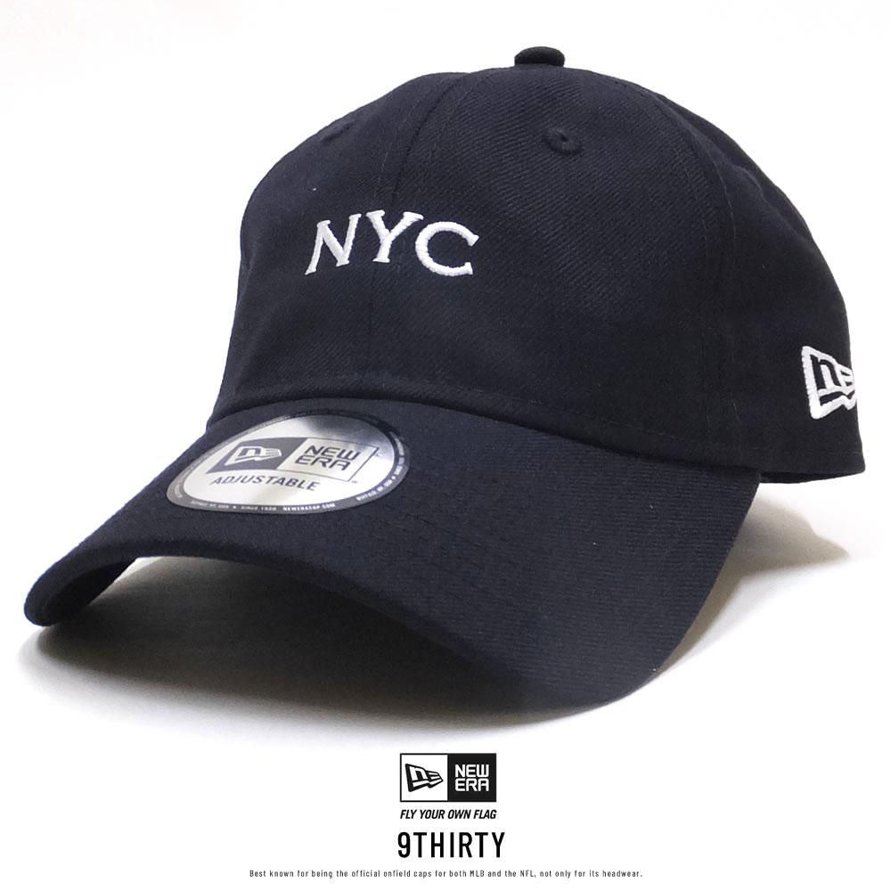 NEW ERA ニューエラ カーブバイザーキャップ 9THIRTY クロスストラップ NYC ネイビー×ホワイト 11899278