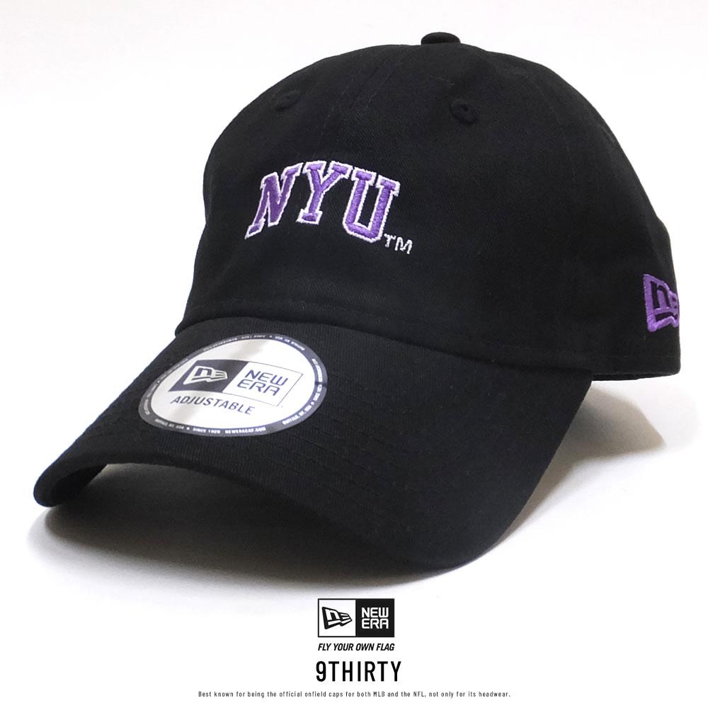 NEW ERA ニューエラ メッシュキャップ 9THIRTY クロスストラップ ニューヨーク大学 NYU ブラック×オフィシャルロゴカラー 11903767