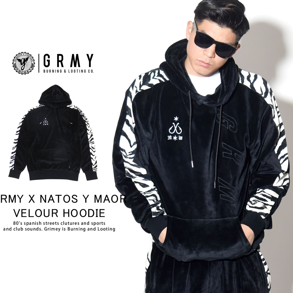 GRIMEY グライミー プルオーバーパーカー GRMY X NATOS Y MAOR VELOUR HOODIE GCH332