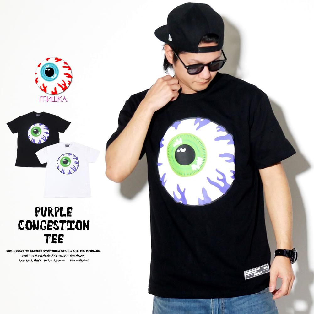 MISHKA ミシカ 半袖Tシャツ PURPLE CONGESTION TEE MSS190032