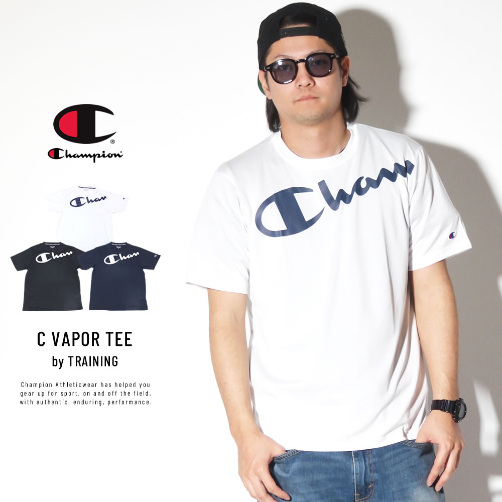CHAMPION チャンピオン 半袖Tシャツ TRAINING C VAPOR TEE C3-PS321