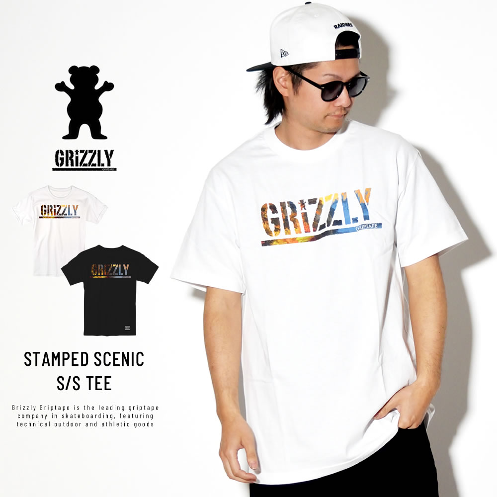 GRIZZLY グリズリー 半袖Tシャツ STAMPED SCENIC 19111