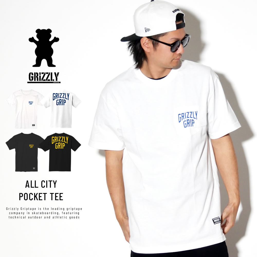 GRIZZLY グリズリー 半袖Tシャツ ALL CITY POCKET TEE 19116
