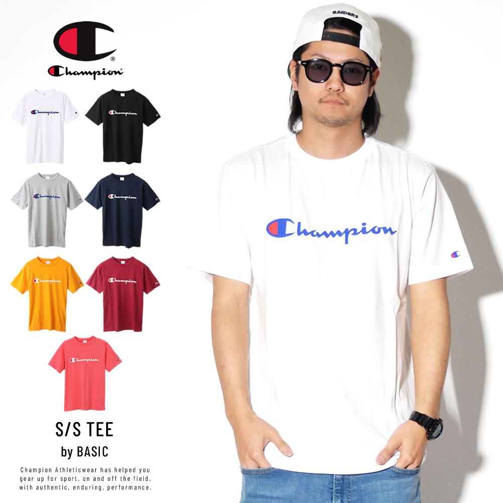 CHAMPION チャンピオン 半袖Tシャツ スクリプトロゴ BASIC T-SHIRT C3-P302