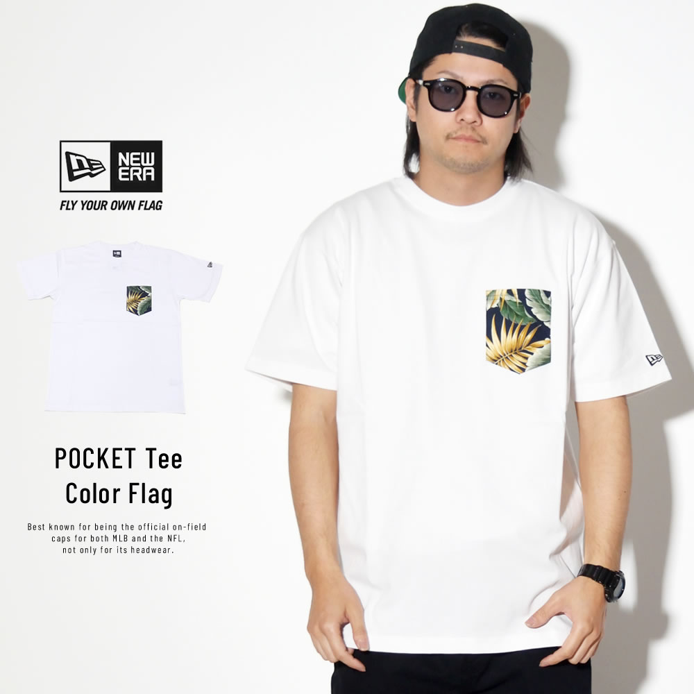 NEW ERA ニューエラ 半袖Tシャツ コットン ポケット Tシャツ ボタニカル ホワイト 11901361