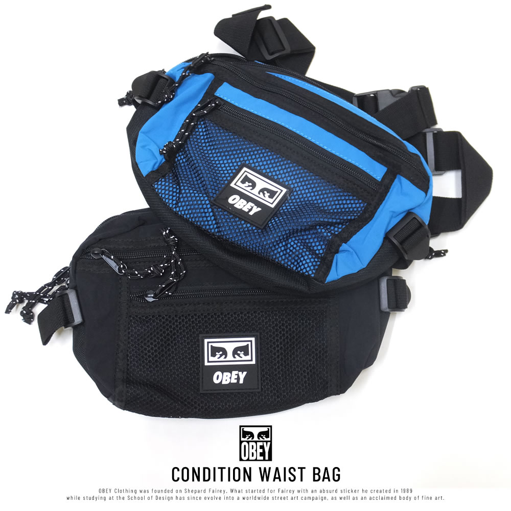 OBEY オベイ ウエストバッグ CONDITION WAIST BAG 100010108